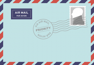 post, air mail, letters